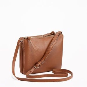 Dual Zip Crossbody Bag